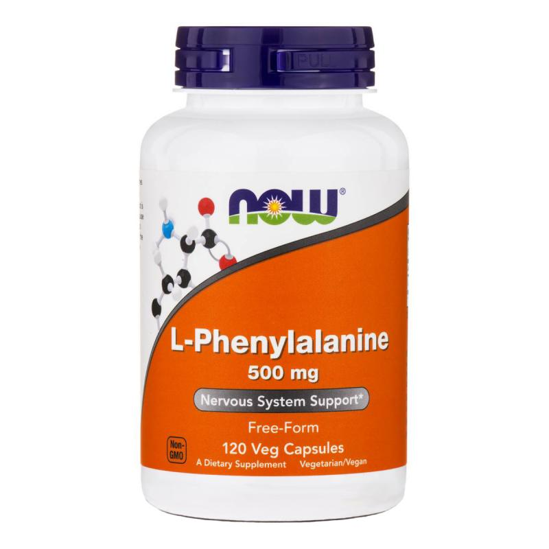 Now Foods L-Phenylalanine 500 mg 120 caps - фото 1