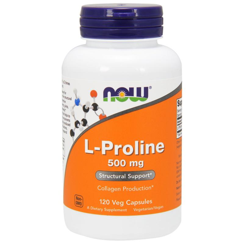 Now Foods L-Proline 500 mg 120 vcaps - фото 1