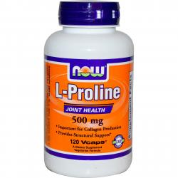 Now Foods L-Proline 500 mg 120 vcaps