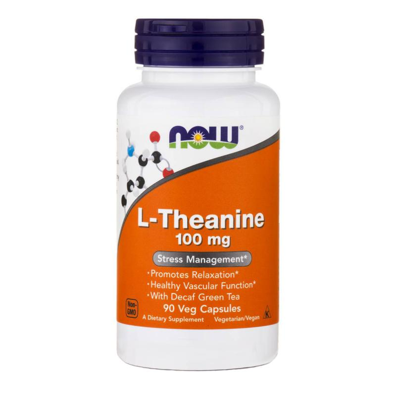 Now Foods L-Theanine 100 mg 90 vcaps - фото 1