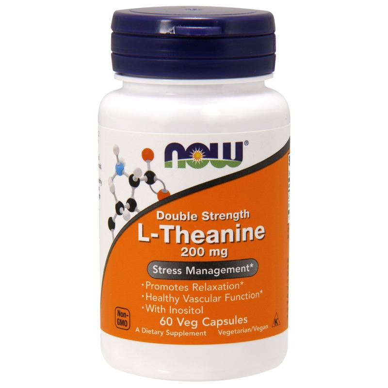 Now Foods L-Theanine 200 mg 60 vcaps - фото 1