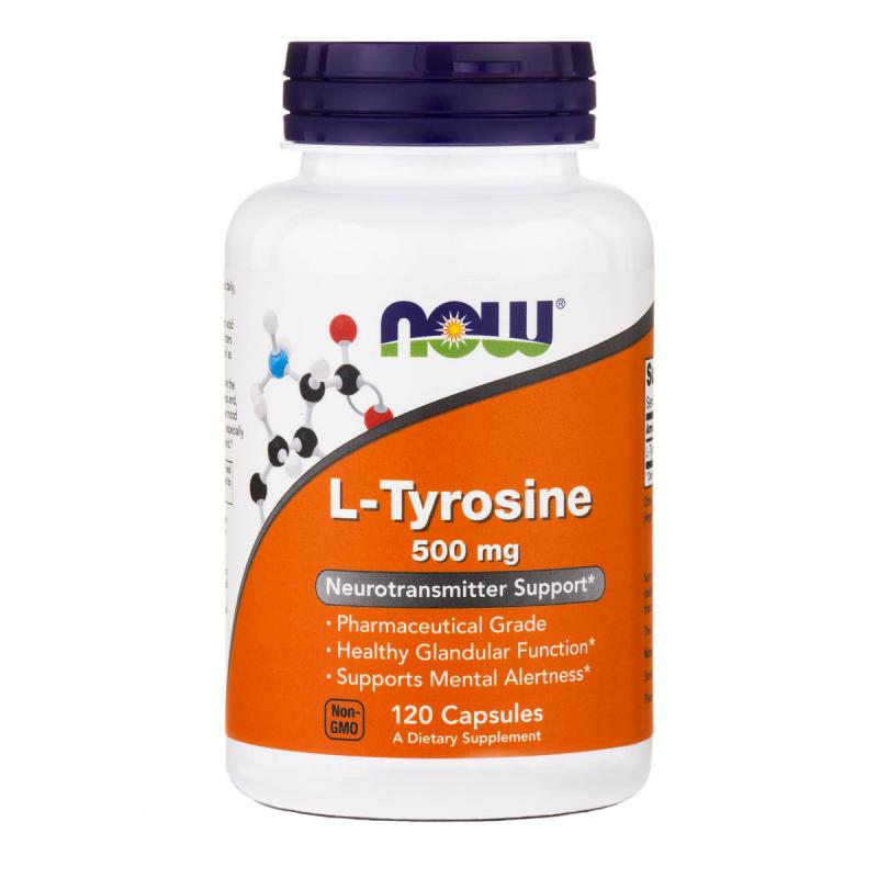 Now Foods L-Tyrosine 500 mg 120 caps - фото 1