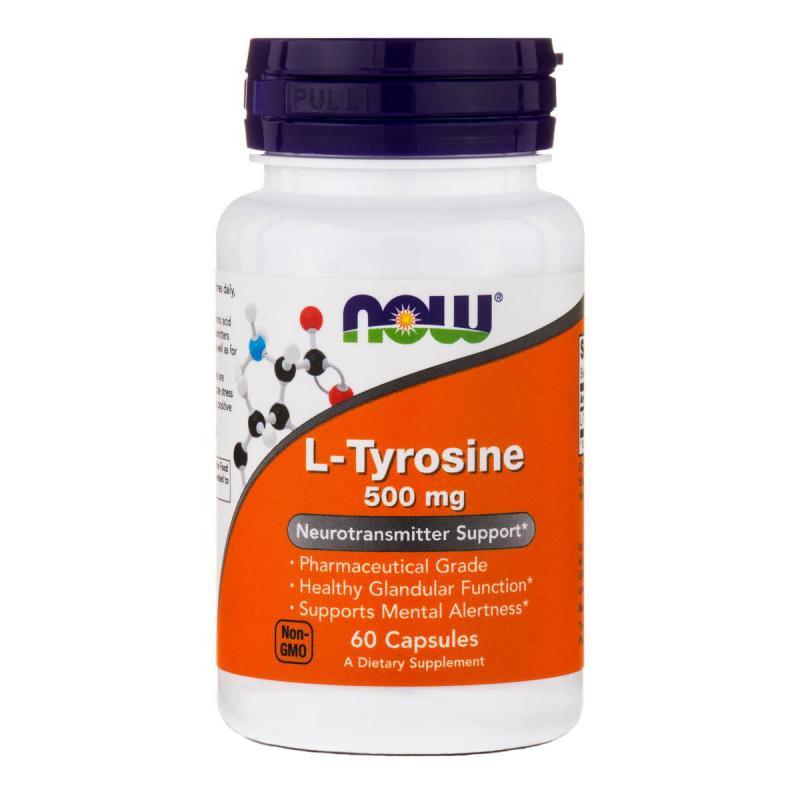 Now Foods L-Tyrosine 500 mg 60 caps - фото 1