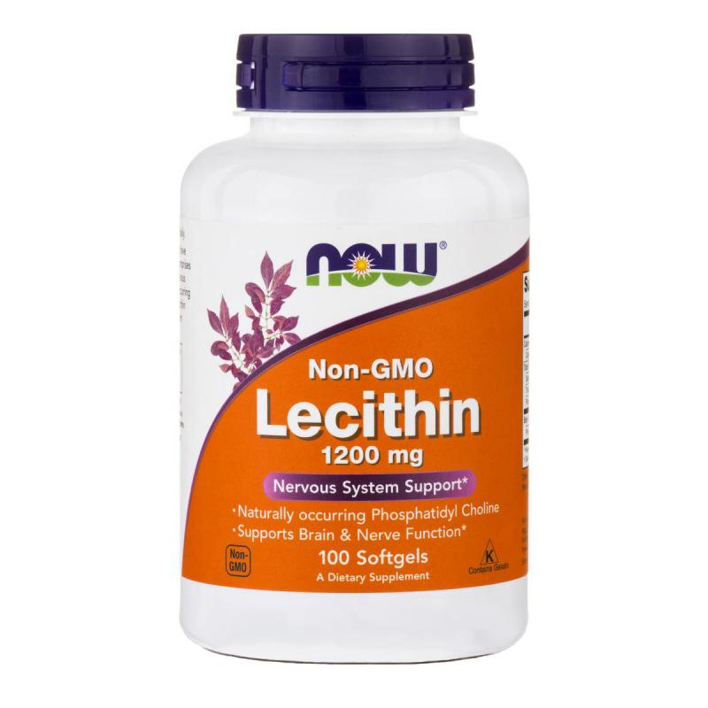 Now Foods Lecithin 1200 mg 100 softgels - фото 1