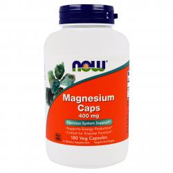 Now Foods Magnesium Caps 400 mg 180 caps