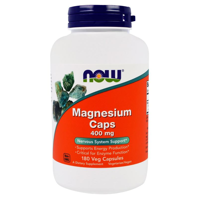 Now Foods Magnesium Caps 400 mg 180 caps - фото 1