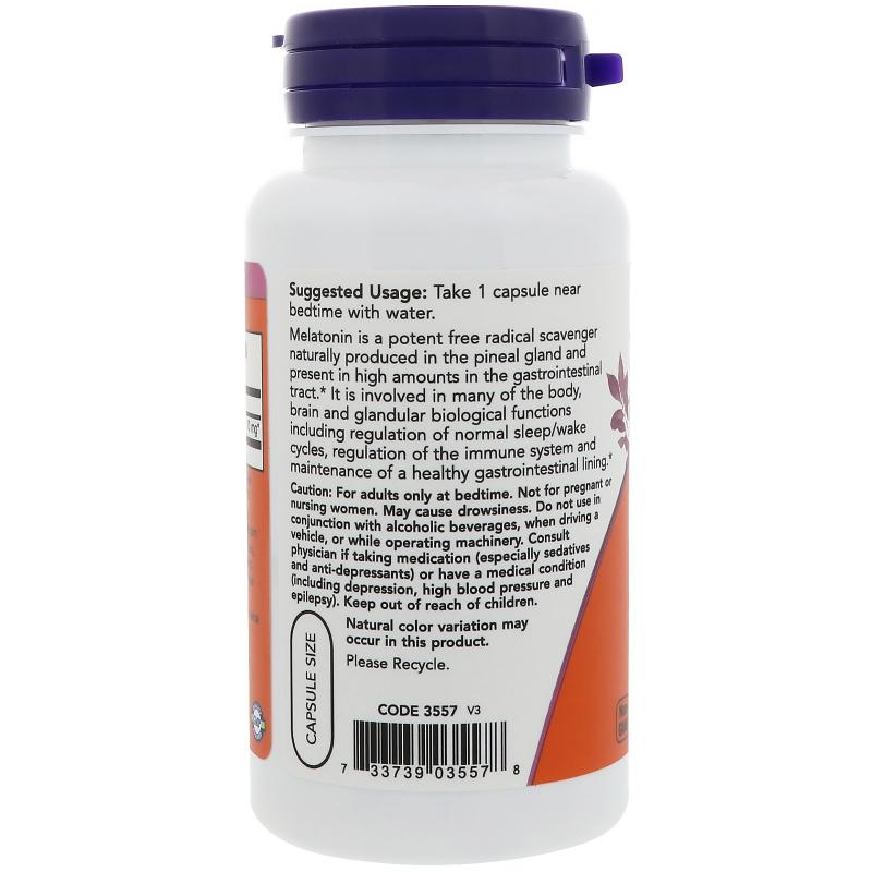 Now Foods Melatonin 10 mg 100 vcaps - фото 1