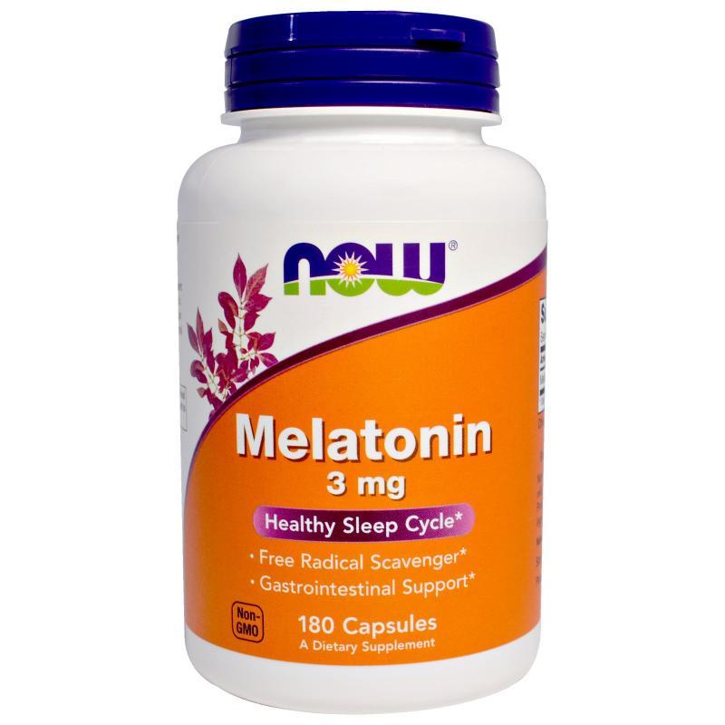 Now Foods Melatonin 3 mg 180 caps - фото 1