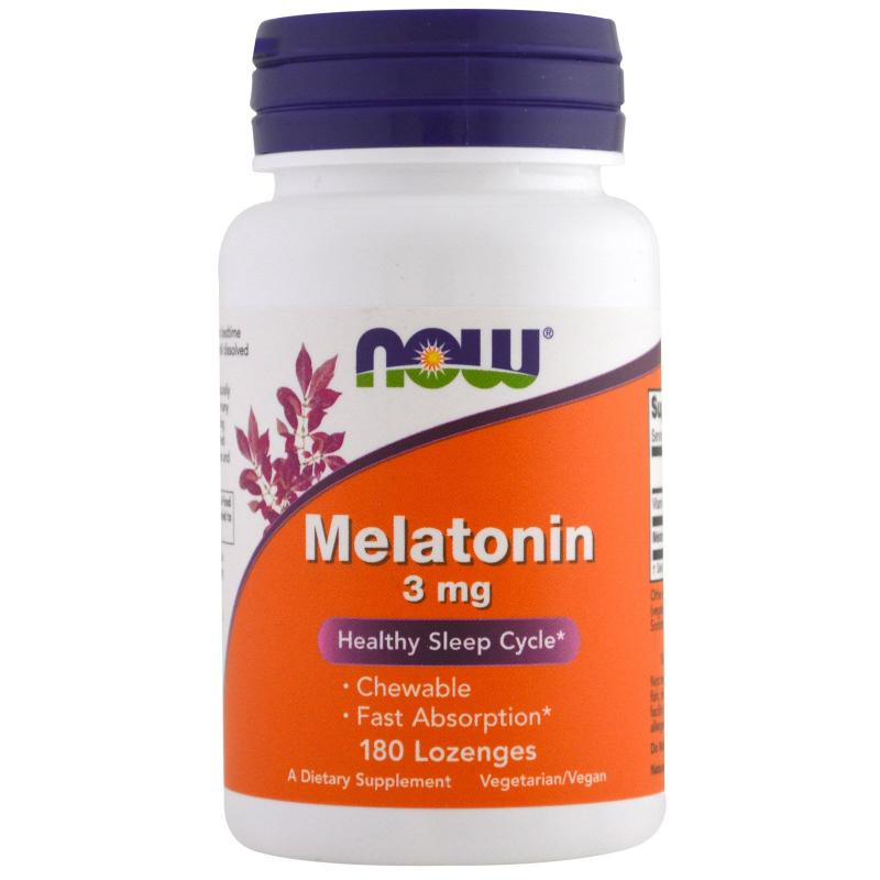 Now Foods Melatonin 3 mg 180 Lozenges - фото 1