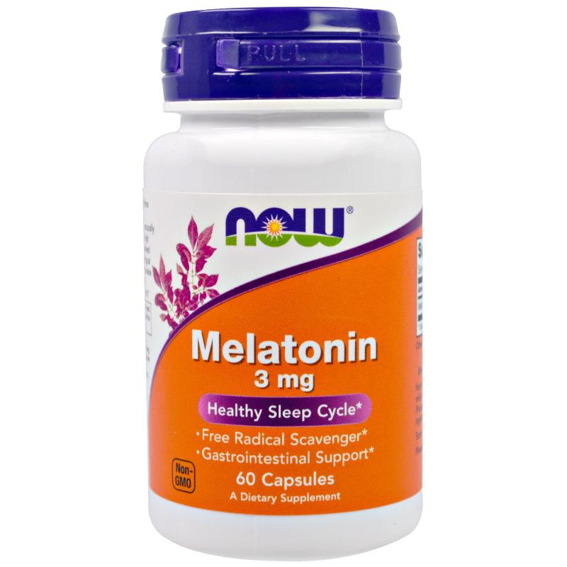 Now Foods Melatonin 3 mg 60 caps - фото 1