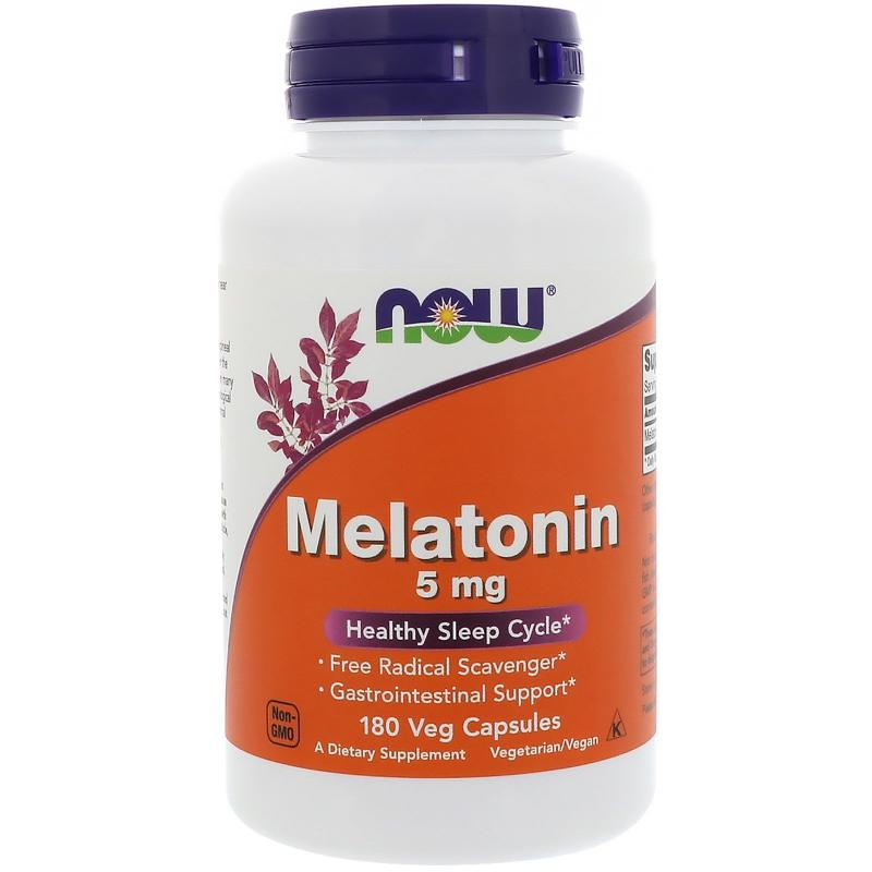 Now Foods Melatonin 5 mg 180 caps - фото 1