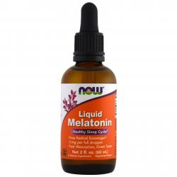 Now Foods Melatonin Liquid 3 mg 60 ml
