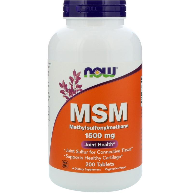 Now Foods MSM 1500 mg 200 Tablets - фото 1