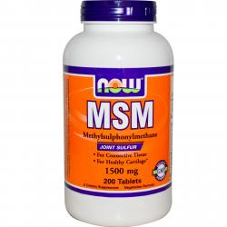 Now Foods MSM 1500 mg 200 Tablets