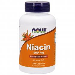 Now Foods Niacin Vitamin B-3 500 mg 100 caps