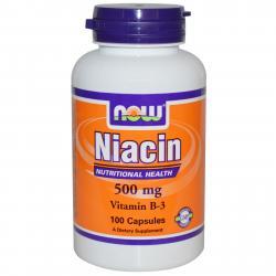 Now Foods Niacin Vitamin B-3 500 mg 100 caps