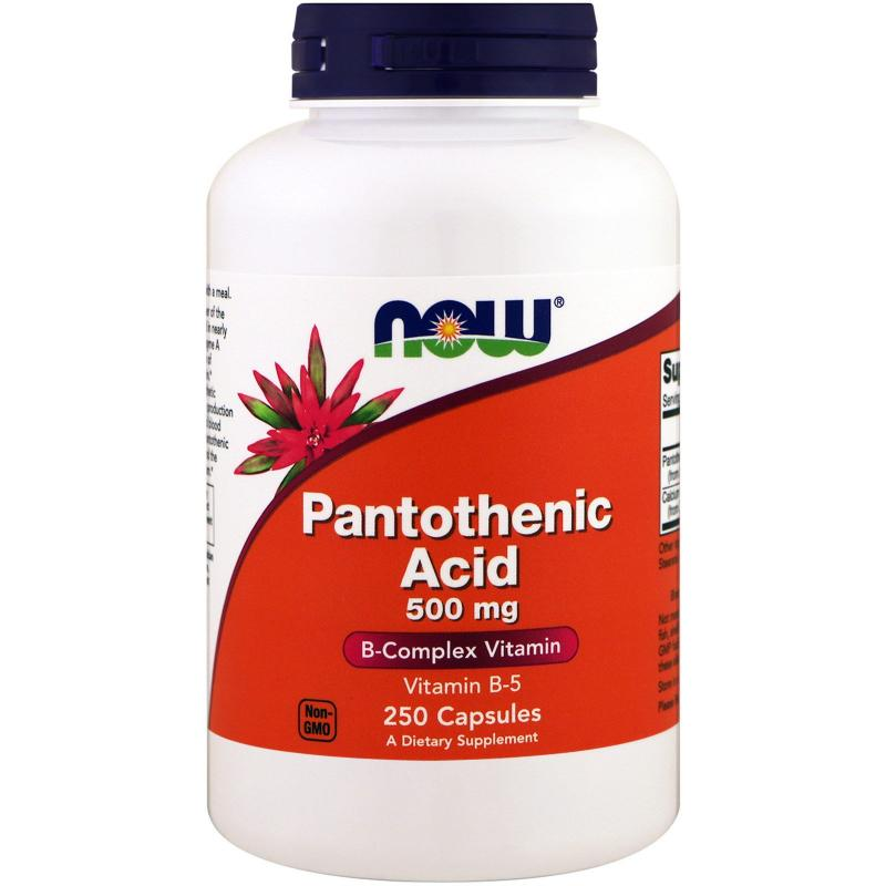 Now Foods Pantothenic Acid 500 mg 250 caps - фото 1