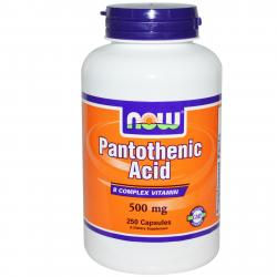 Now Foods Pantothenic Acid 500 mg 250 caps