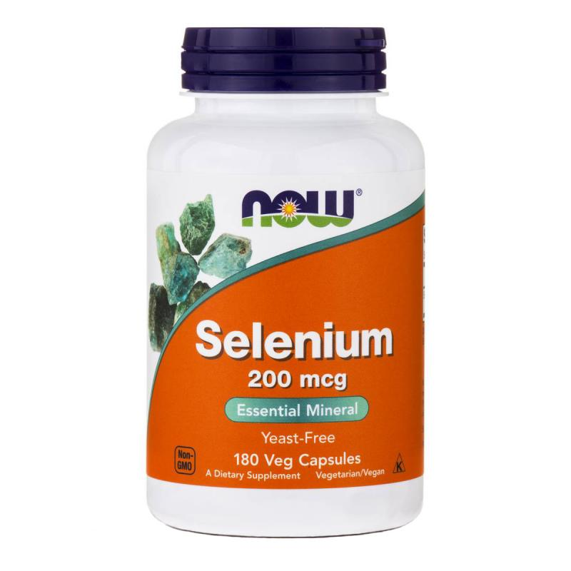 Now Foods Selenium 200 mcg 180 vcaps - фото 1