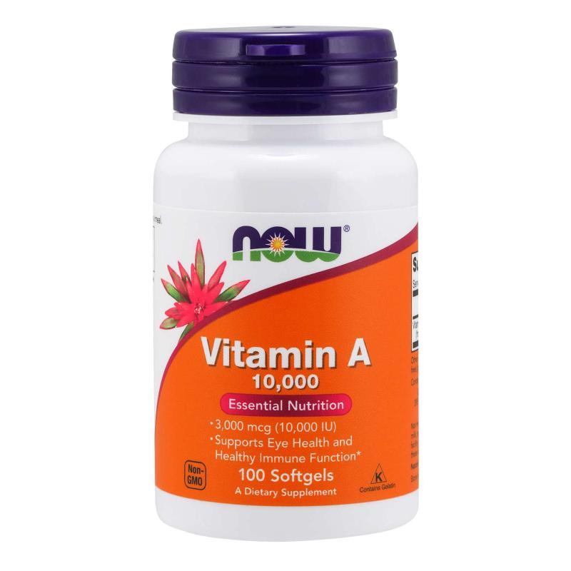 Now Foods Vitamin A 10 000 IU 100 soft - фото 1