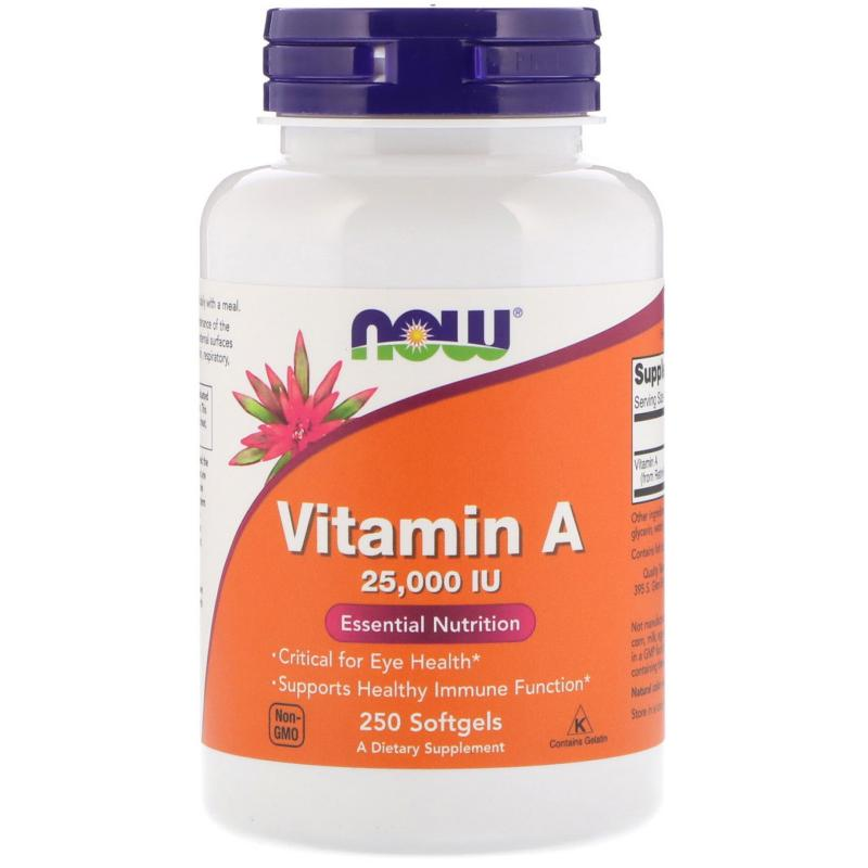 Now Foods Vitamin A 25 000 IU 250 soft - фото 1