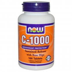 Now Foods C-1000 Sustained Release with Rose Hips 100 tab