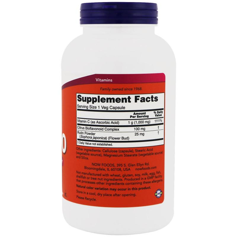 Now Foods C-1000 with 100 mg of Bioflavonoids 250 vcaps - фото 1