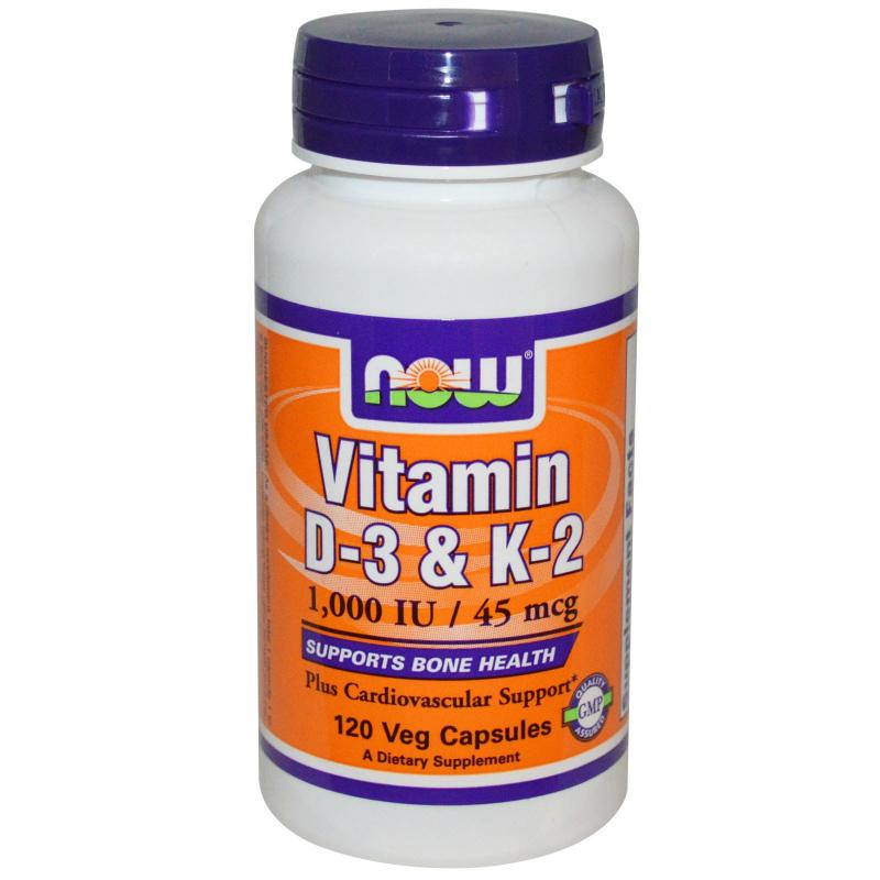 Now Foods Vitamin D-3 & K-2 120 vcaps - фото 1
