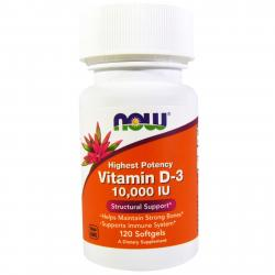Now Foods Vitamin D-3 10.000 IU 120 soft