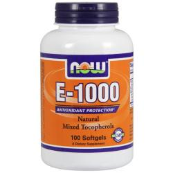 Now Foods E-1000 IU With Mixed Tocopherols 100 softgels