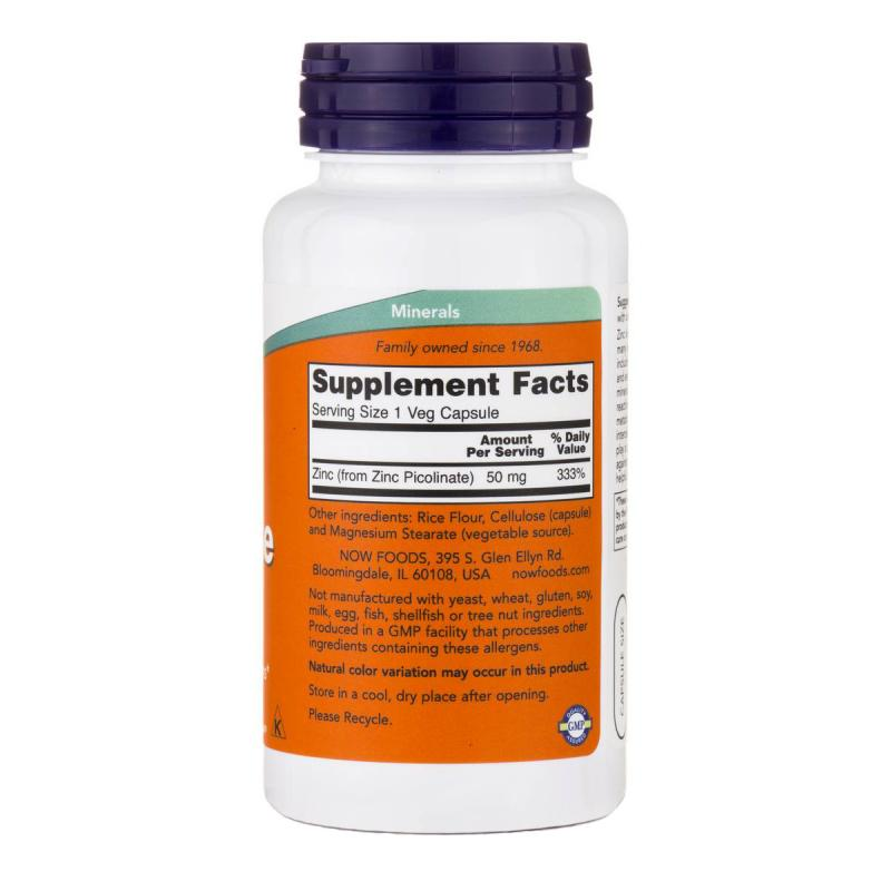 Now foods Zinc Picolinate 50 mg 120 caps - фото 1
