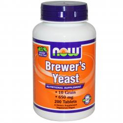 Now Foods Brewer's Yeast 650 mg 200 tablets