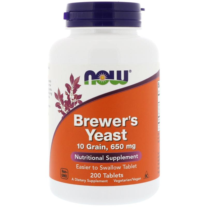 Now Foods Brewer's Yeast 650 mg 200 tablets - фото 1
