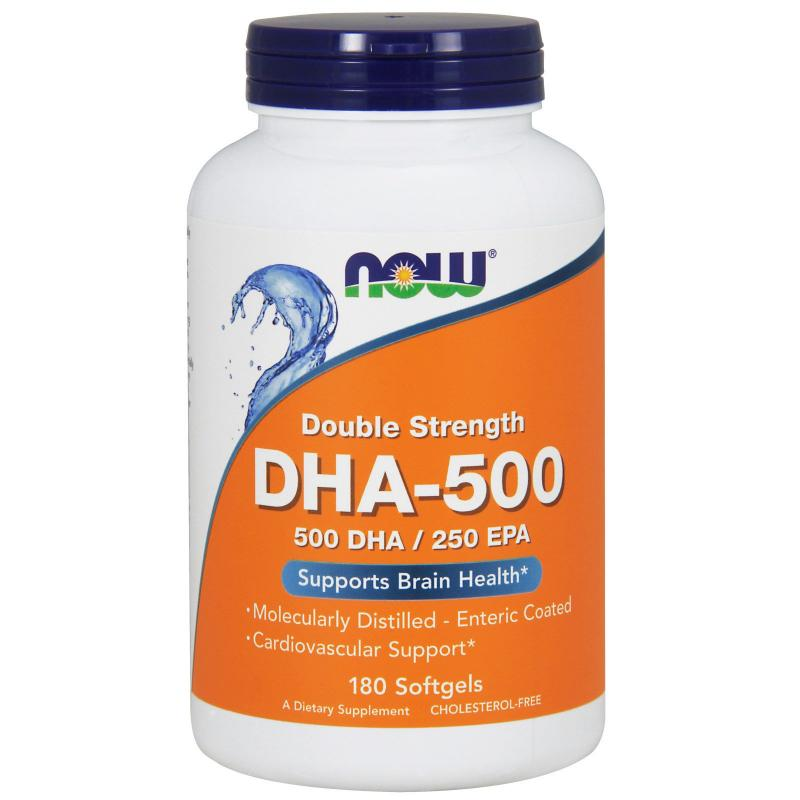 Now Foods DHA-500 500 DHA / 250 EPA 180 softgels - фото 1