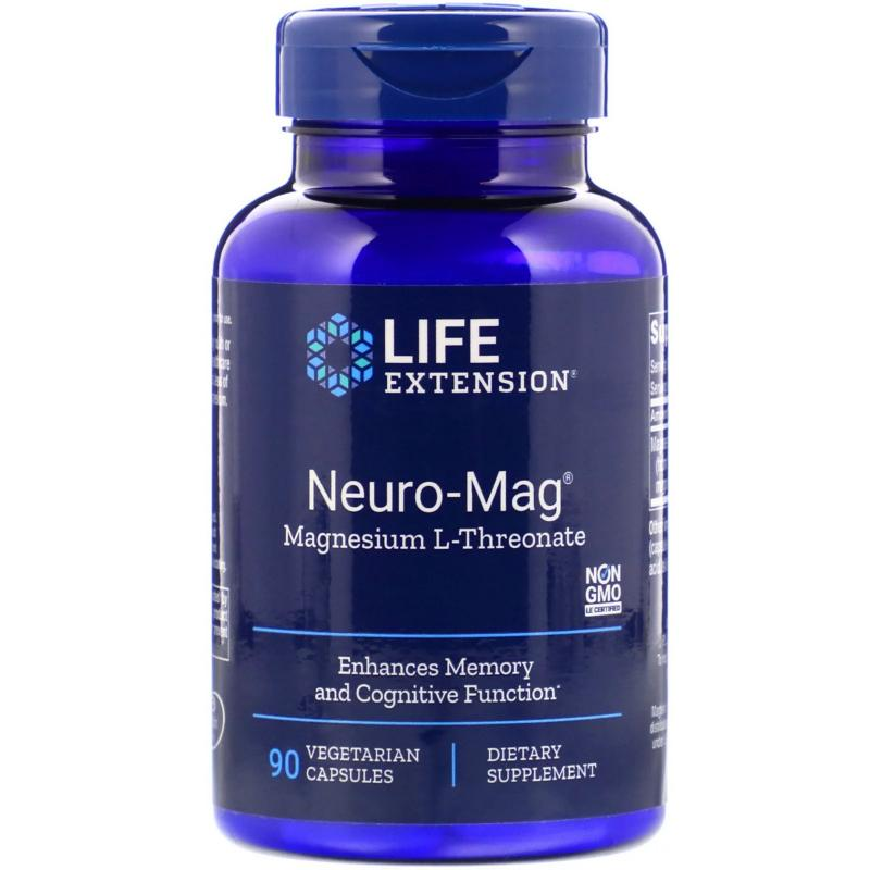 Life Extension Neuro-Mag Magnesium L-Threonate 90 vcaps - фото 1