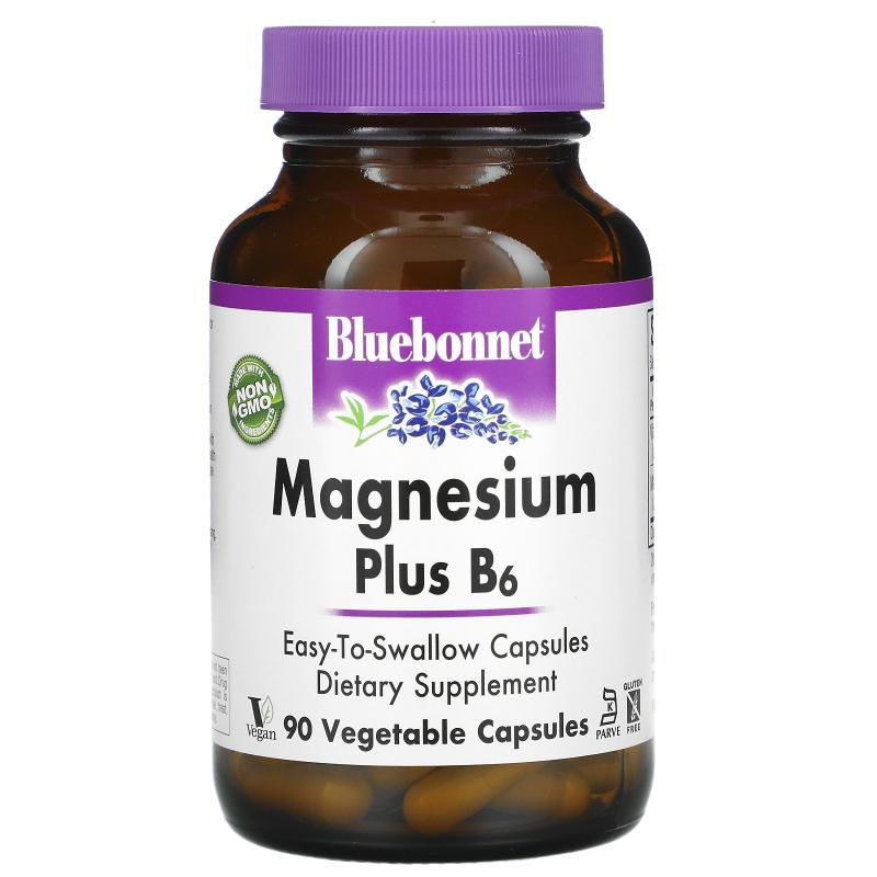 Bluebonnet Nutrition Magnesium Plus B6 90 Vcapsules - фото 1