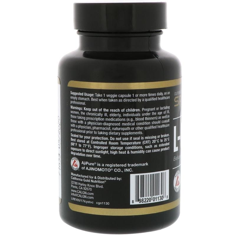 California Gold Nutrition L-Cysteine 500 mg 60 vcaps - фото 1