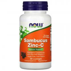 Now Foods Sambucus Zinc-C 60 lozenges