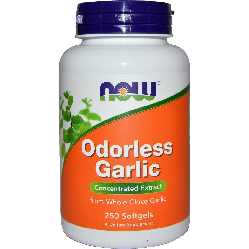 Now Foods Odorless Garlic Concentrated Extract 250 softgels - фото 1