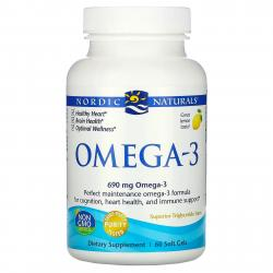 Nordic Naturals OMEGA-3 690 mg omega-3 60 softgels with lemon