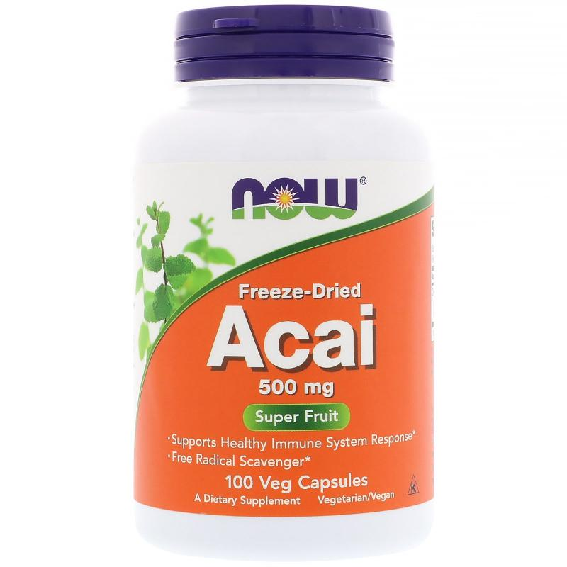 Now Foods Acai 500 mg 100 vcaps - фото 1