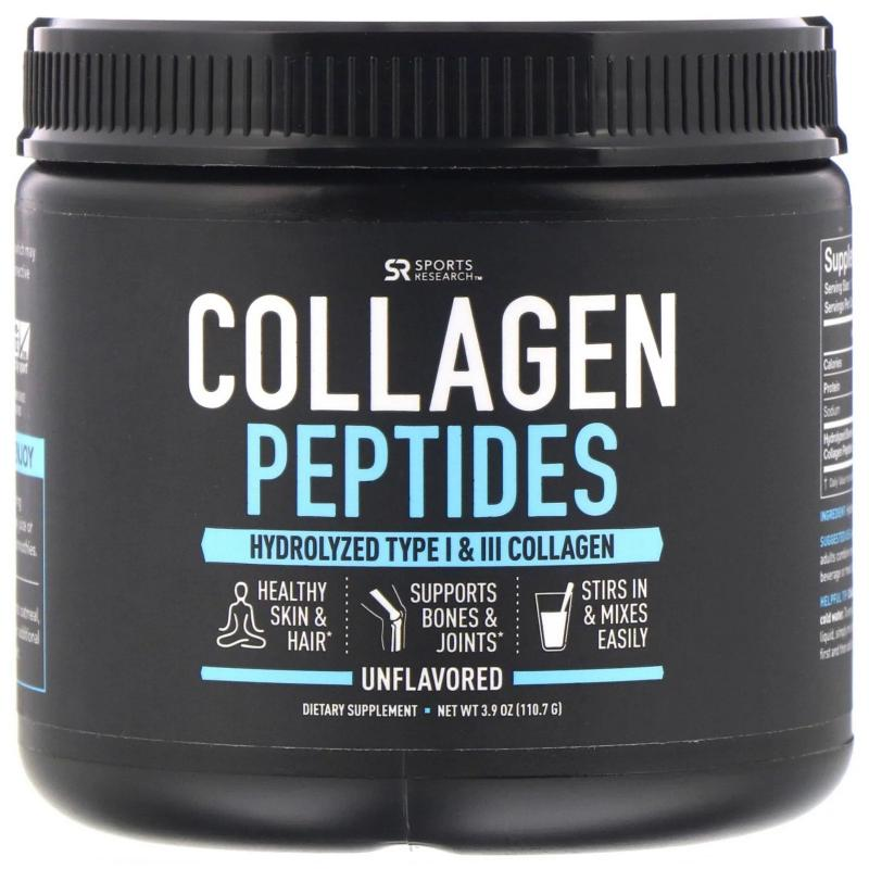 Sports Research Collagen Peptides Hydrolyzed Type 1 & 3 110,7 g - фото 1