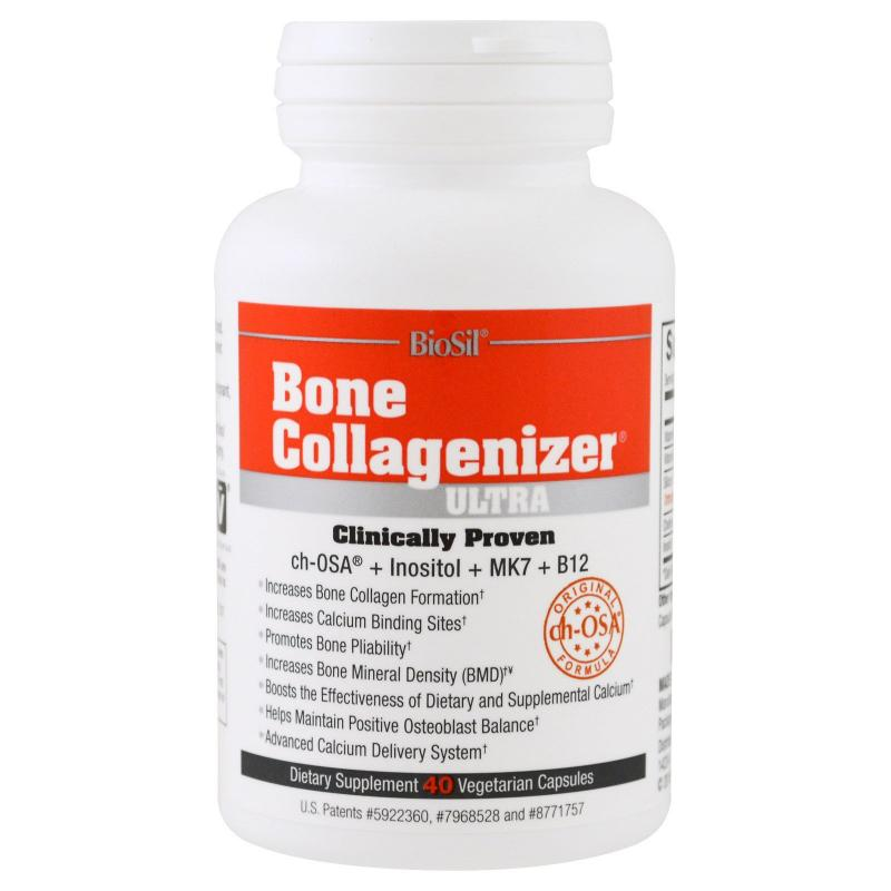 BioSil by Natural Factors Bone Collagenizer Ultra 40 Vegetarian Capsules - фото 1