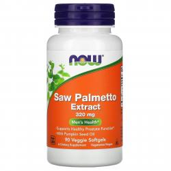 Now Foods Saw Palmetto Extract 320 mg 90 softgels