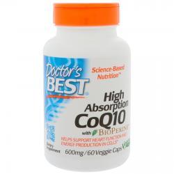 Doctor's Best CoQ10 with BioPerine 600 mg 60 Veggie Caps