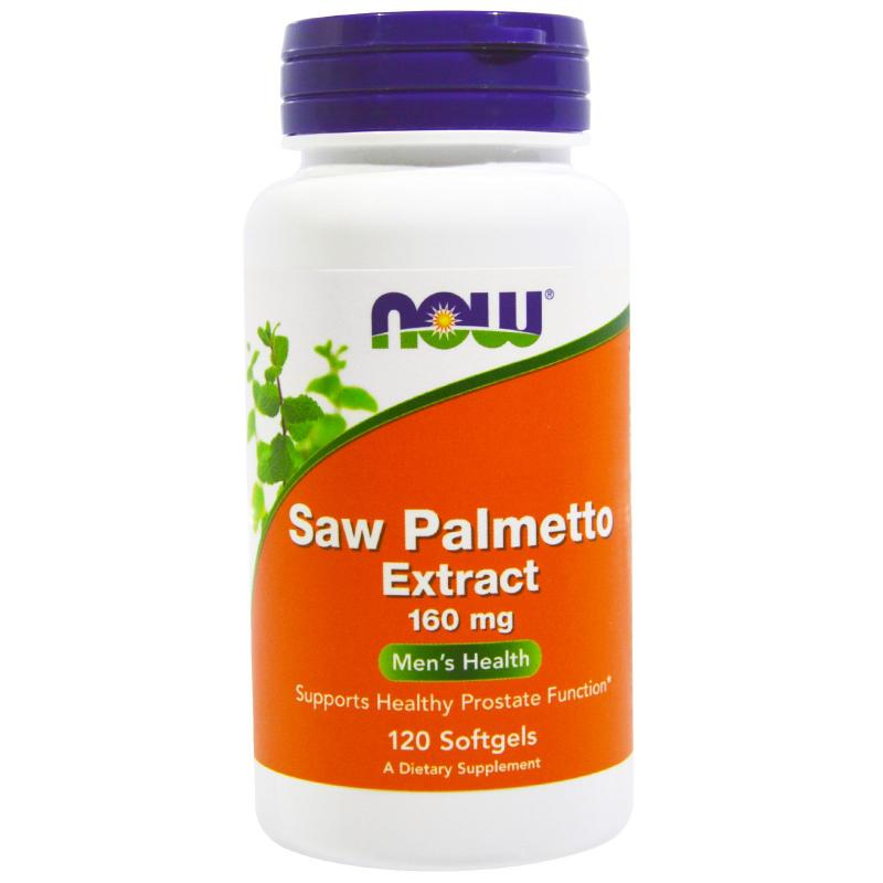 Now Foods Saw Palmetto Extract 160 mg 120 softgels - фото 1