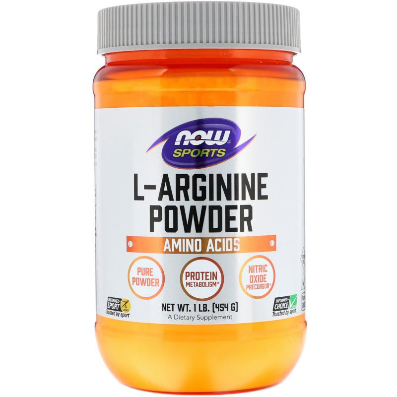 Now Foods L-Arginine Powder 100 % 454 g - фото 1
