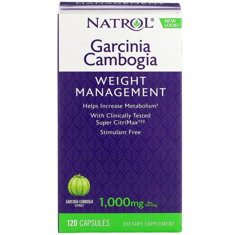 Natrol Garcinia Cambogia 1000 mg 120 Capsules - фото 1