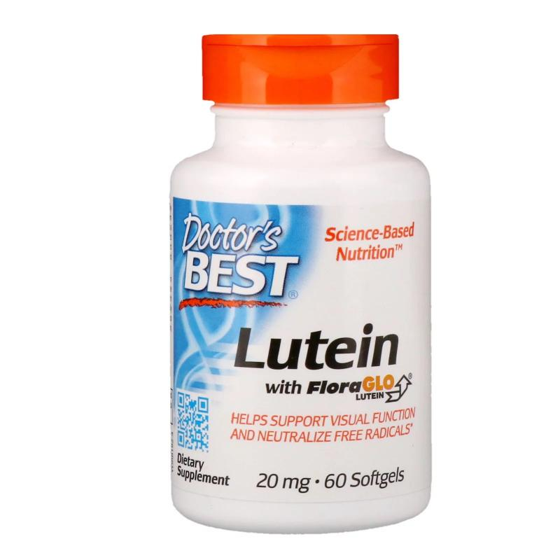 Doctor's Best Lutein 20 mg 60 caps - фото 1