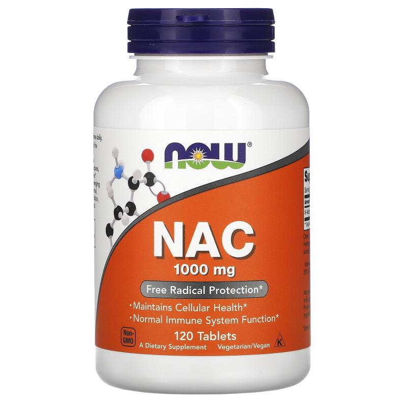 Now Foods NAC 1000 mg 120 tablets - фото 1